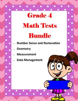 Grade 4 Math Test Bundle