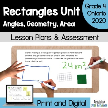 Grade 4 Math Three Part Lesson 2D and 3D Geometry Complete Unit