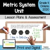 Measurement - The Metric System COMPLETE UNIT (Grade 4 Ontario)