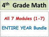 Grade 4 Math-WHOLE YEAR! Modules 1-7 (Student Pgs-HOT q's-Reviews-All Enhanced!)
