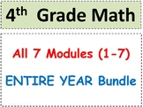 Grade 4 Math-WHOLE YEAR! Modules 1-7 Student Pgs-HOT q's-Reviews-Enhanced BUNDLE