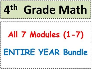 Grade 4 Math-WHOLE YEAR! Modules 1-7 (Student Pgs-HOT q's-