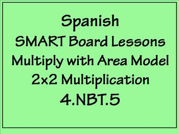 Grade 4 Math in Spanish  4.NBT.B.5  Multiply 2-digit Numbers  with Area Model
