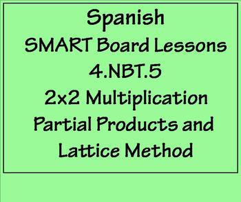 Grade 4 Math in Spanish  4.NBT.B.5  Multiply 2x2 Partial Products and Lattice