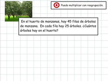 Grade 4 Math in Spanish  4.NBT.B.5  Multiply 2x2 Traditional Algorithm