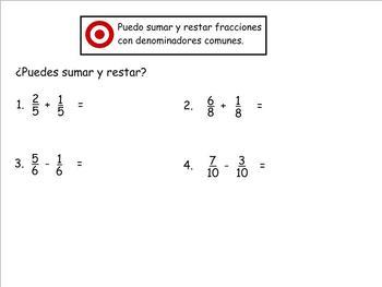 Grade 4 Math in Spanish  4.NF.3