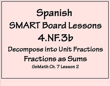 Grade 4 Math in Spanish  4.NF.3   Decompose Fractions