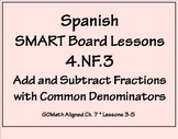 Grade 4 Math in Spanish 4.NF.3C  Add and Subtract Mixed Numbers