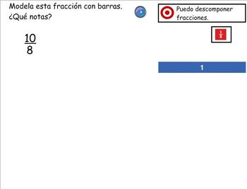 Grade 4 Math in Spanish 4.NF.3b  Understand Mixed Numbers and Improper Fractions