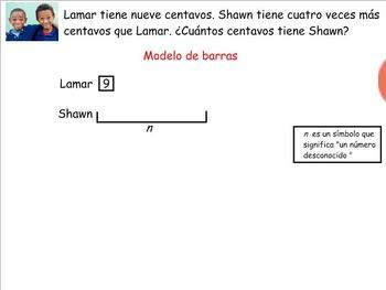 Grade 4 Math in Spanish - 4.OA.1   Multiplicative Comparisons
