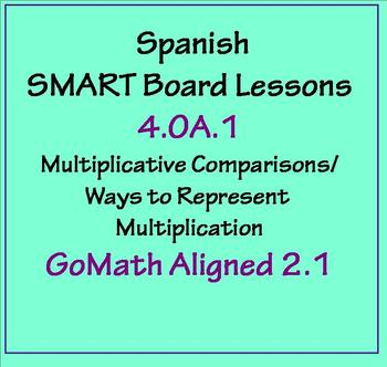Grade 4 Math in Spanish - 4.OA.1   Multiplicative Comparisons