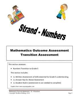 Grade 4 - Mathematics Transition Assessment