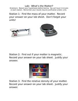 Grade 4 Matter Lab
