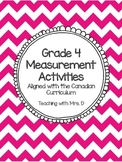 Grade 4 Measurement Activities - Alligned with Canadian Cirriculum