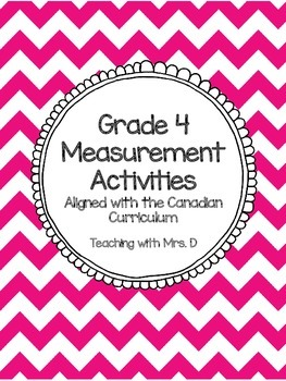 Grade 4 Measurement Activities - Alligned with Canadian Ci