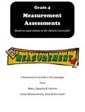 Grade 4 Measurement Assessments