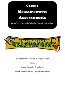 Grade 4 Measurement Assessments