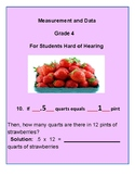 Grade 4 - Measurement & Data for Students Hard of Hearing - CCS