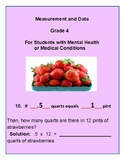 Grade 4 - Measurement & Data for Students w/ Mental Health or Medical Conditions