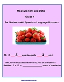 Grade 4 - Measurement & Data for Students w/ Speech and Language Disorders