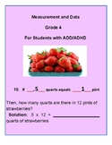 Grade 4 - Measurement & Data for Students with ADD/ADHD - CCS