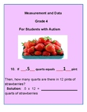 Grade 4 - Measurement & Data for Students with Autism - CCS