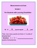 Grade 4 - Measurement & Data for Students with Learning Disabilities - CCS