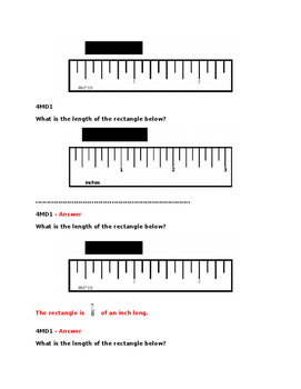 Grade 4 Measurement and Data Pre and Post Assessment Bank