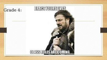 Grade 4 Meme Class Rules