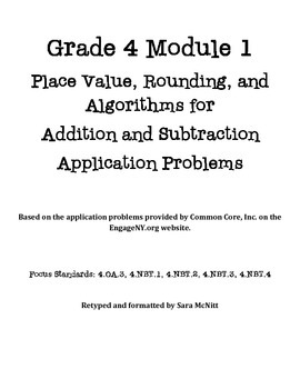 Grade 4 Module 1 Application Problems
