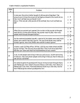 Grade 4 Module 1 Application Problems