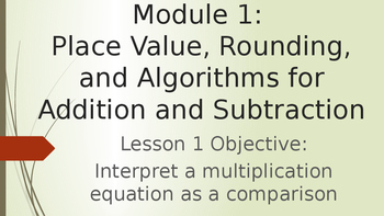 Grade 4 Module 1 Lesson 1 PowerPoint