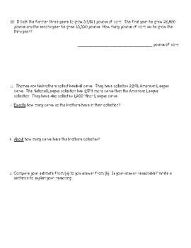 Grade 4 Module 1 Topic D & E Quiz - Eureka Math, Engage NY