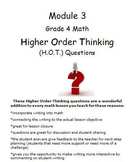 Grade 4 Module 3 Higher Order Thinking (HOT) Questions/Wri