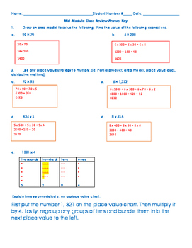 Grade 4 Module 3 Mid Module Study Guide and Quiz w/ Accommodations