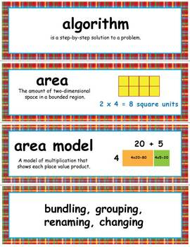 Grade 4 Module 3: Multi-Digit Multiplication and Division Vocabulary and LTT
