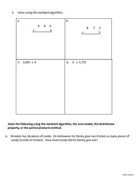 Grade 4 Module 3 Topic C Review Packet