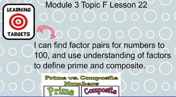 Grade 4 Module 3 Topics F - H Lessons 22 - 38 Smartboard Lessons