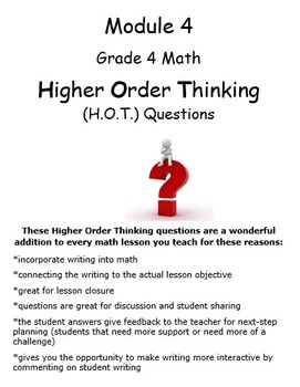 Grade 4 Module 4 Higher Order Thinking Questions/Prompts Whole Mod Bundle!