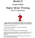 Grade 4 Math Module 5 Higher Order Thinking (HOT) Questions/Writing Prompts!