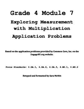 Grade 4 Module 7 Application Problems