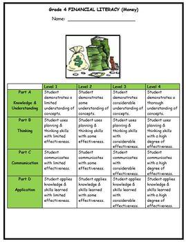 Grade 4 Money Assessment