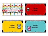 Grade 4 Multi-Digit Addition Task Cards