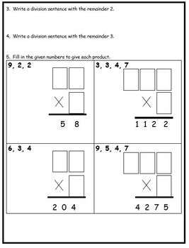 Grade 4 Multiplication & Division Assessment
