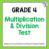 Grade 4 Multiplication & Division Test