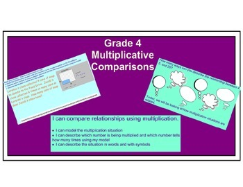 Grade 4 Multiplicative Comparisons