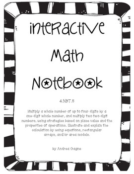 Grade 4 NBT.5 Interactive Math Notebook