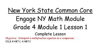 Grade 4 NY Math Module 1 Lesson 1 for Smart Board Complete Lesson