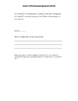 Grade 4 NYS Released Math Questions 2013