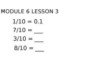 Grade 4 Number Talks for Engage NY/ Eureka Math Module 6